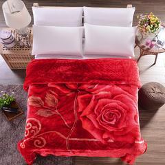 坦客毯业 厂家直销10斤拉舍尔超厚绒毯冬季1.5单人1.8双人毛毯 200cmX230cm(7斤) 玫瑰花语