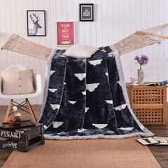 坦客毯业 厂家直销10斤拉舍尔超厚绒毯冬季1.5单人1.8双人毛毯 200cmX230cm(7斤) 灰底白云
