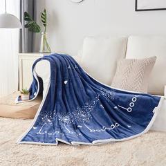 【坦客毯业】云貂绒毛毯系列 2.0*2.3米 2018 蒲公英-蓝