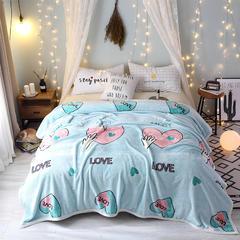 云貂绒毛毯 1.2*2.0 爱无限