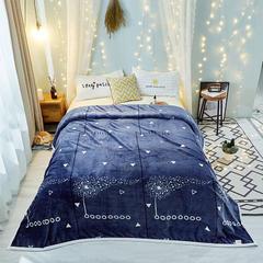 云貂绒毛毯 1.2*2.0 蒲公英-蓝色