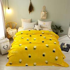 法莱绒毛毯 1.2*2.0 缤纷菠萝