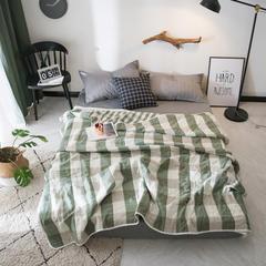 六层纱布毛巾被 120*150cm 日式大格-绿