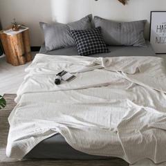朴尔2018水洗棉纱布毛巾被全棉纯棉纱布夏被空调被夏凉被毛毯被子提花盖毯 150*200cm 优之良品-白色