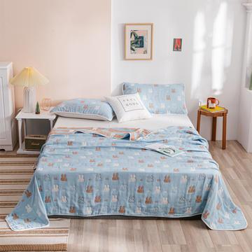 2020新款六层纱布毛巾被纯棉单双人午睡被子夏凉被儿童婴儿空调被小毯盖毯夏被床单