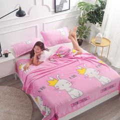 2018新款-法莱绒毛毯 120*200cm 皇冠猫咪