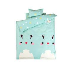 婴儿多件套(羽丝绒六件套) 羽丝绒六件套 字母小鹿-绿色