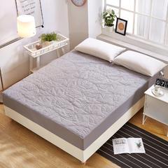 磨毛纯色的护床垫(床笠款) 0.9米 灰色