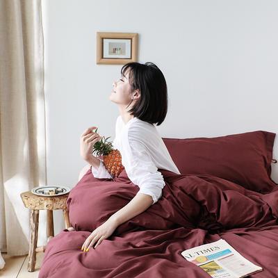 2019新款ins风网红同款公主风蝴蝶结四件套 1.5m-1.8m四件套 蜜-红