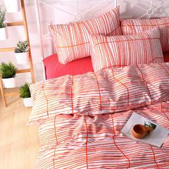 简宜家居 纯棉全棉四件套小清新田园风四件套  菠萝蜜多 1.8m(6英尺)床 完美