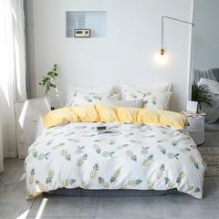 2018新款-棉加绒四件套 三件套1.2m(4英尺)床 菠萝蜜