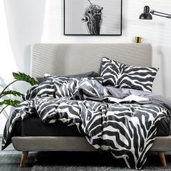 2019北欧简约13372纯棉全棉单人床三件套双人床四件套 1.0m(3.3英尺)床 豹纹诱惑