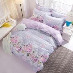 芦荟棉夹棉加厚床上用品四件套 南通床品批发 一件代发 1.5m 爱的花海-夹棉