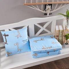 精梳棉抱枕被环保印花被子汽车靠垫被沙发靠垫空调被 40X40cm 斑点小鹿