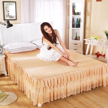 2019新款韩版蕾丝公主床裙-101系列 150cmx200cm 金驼色