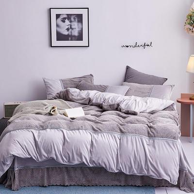 2019新款法莱绒四件套 1.8m(6英尺)床单款 3