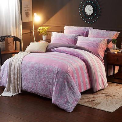 2017冬款-5D雕花绒水晶绒四件套 1.5m(5英尺)床 艾丽莎-粉红