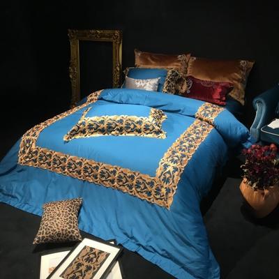 80皮马棉刺绣 梅丽莎 标准 梅丽莎 孔雀蓝