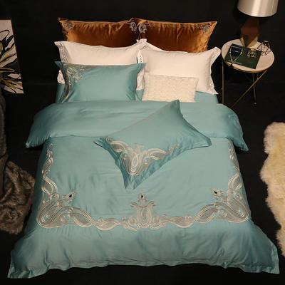 Spades A 18年春夏80S皮马棉刺绣系列--道格拉斯 1.5-1.8m(床) 道格拉斯 绿