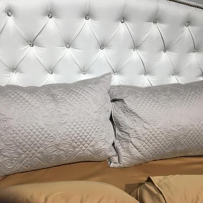 2018新款100支拼色系列四件套 1.5m(5英尺)床 大靠垫60*80 含芯/对灰色