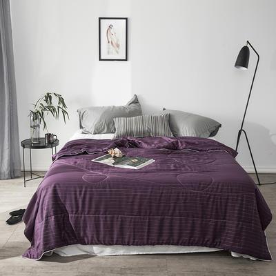2018新款银线天丝夏被 200X230cm 深紫