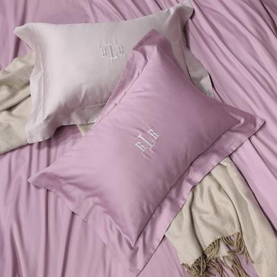 2018新款80支匹马棉系列~拉夫 2.0m(6.6英尺)床 48*74带边枕套/对