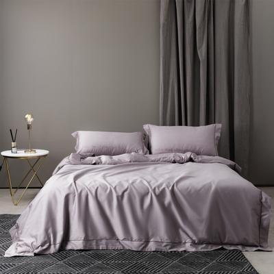 新款60绣字款 四件套 1.8m(6英尺)床 克里斯汀 豆沙紫