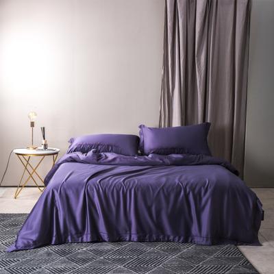 2018新款60绣字款 四件套 1.8m(6英尺)床 克里斯汀 深紫