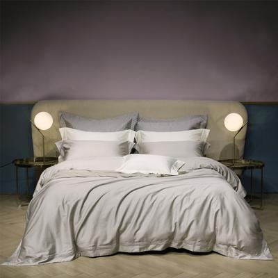 新款100支匹马棉刺绣系列~米娅 1.8m(6英尺)床 灰