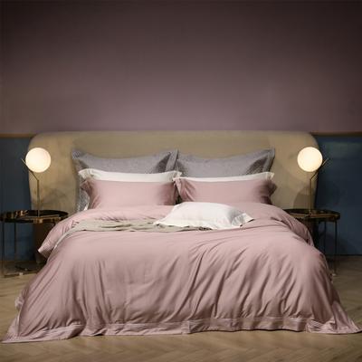 新款100支匹马棉刺绣系列~米娅 1.8m(6英尺)床 肉粉
