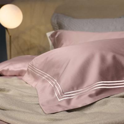 新款100支匹马棉刺绣系列~米娅 1.5m(5英尺)床 配大靠垫60*80(含芯/对)