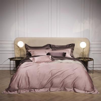 新款Spades A 高级定制系列-120支纯色四件套 1.5m(5英尺)床 粉咖