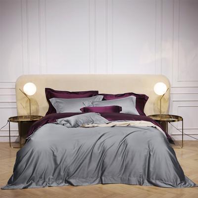 新款Spades A 高级定制系列-120支纯色四件套 1.5m(5英尺)床 灰紫