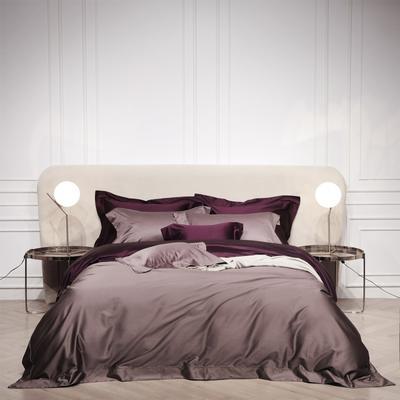 2018新款Spades A 高级定制系列-120支纯色四件套 1.8m(6英尺)床 咖紫