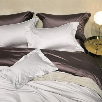新款Spades A 高级定制系列-120支纯色四件套 1.5m(5英尺)床 大靠垫60*80 /对 含芯