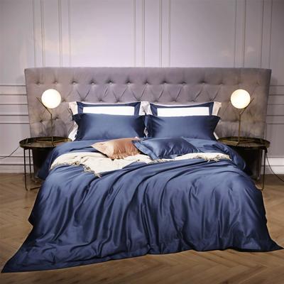 新款140支纯色四件套 1.5m(5英尺)床 乔治 宝蓝
