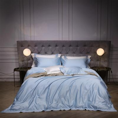 新款140支纯色四件套 1.5m(5英尺)床 乔治 淡蓝