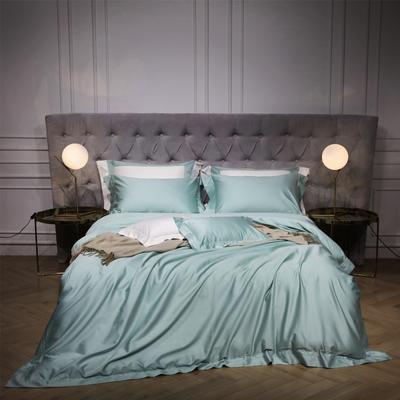 新款140支纯色四件套 1.5m(5英尺)床 乔治 浅绿