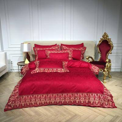 2018️Spades A 100支高级婚庆系列四件套-红妆 1.8m(6英尺)床 魅影