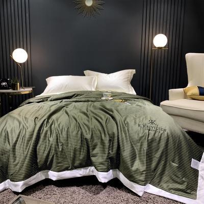 2019新款天丝棉夏被 200X230cm 条纹 绿