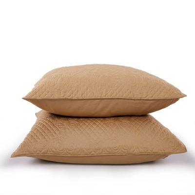 新款绗缝靠垫 60*80cm/含芯/一对 绗缝靠垫咖色