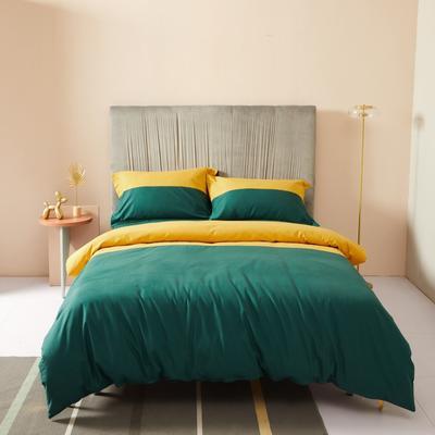 2019新款暖绒高级定制系列四件套-拾光 2.0m床单款四件套 拾光 黄绿