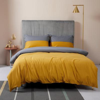 2019新款暖绒高级定制系列四件套-拾光 2.0m床单款四件套 拾光 灰黄