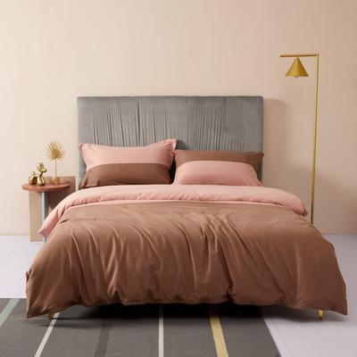 2019新款暖绒高级定制系列四件套-拾光 2.0m床单款四件套 拾光 粉棕