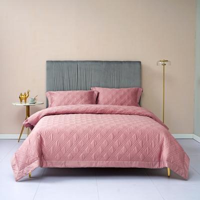 新款绗缝套件系列·玛奇朵四件套 1.8m床单款四件套 玛奇朵 豆沙