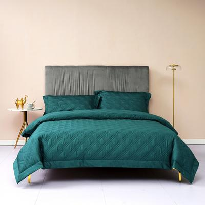 新款绗缝套件系列·玛奇朵四件套 1.8m床单款四件套 玛奇朵 墨绿