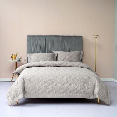 新款绗缝套件系列·玛奇朵四件套 1.8m床单款四件套 玛奇朵 浅灰