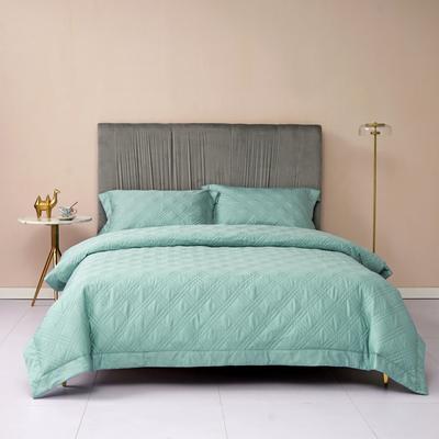 新款绗缝套件系列·玛奇朵四件套 1.8m床单款四件套 玛奇朵 天蓝