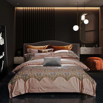 2020新款高精密蕾丝系列四件套 1.5m床单款四件套 奥斯顿 香槟