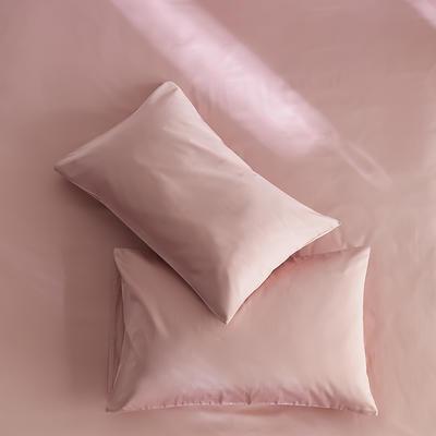 2020新款60s纯色单品枕套 48cmX74cm/对 豆沙